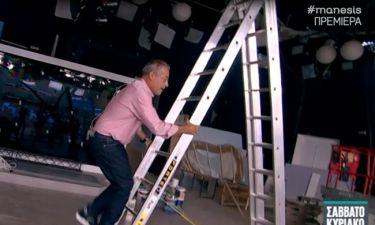 Νίκος Μάνεσης: Έδειξε το πλατό της Μενεγάκη και το σκηνικό που είναι υπό κατασκευή!