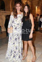 Η Δέσποινα Βανδή το βράδυ του Σαββάτου πήγε στο Ηρώδειο μαζί με την κόρη της, Μελίνα.