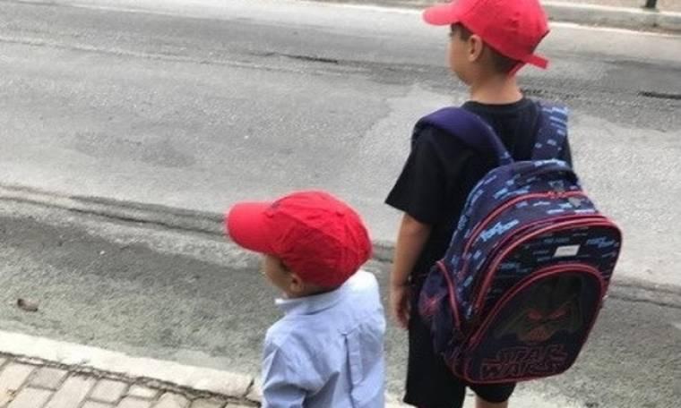 Φαίη Σκορδά: Πρώτη ημέρα στο σχολείο για τους γιους της
