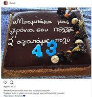 Πρεμιέρα και γενέθλια για τον Σρόιτερ- Η τούρτα και το μήνυμα της συζύγου του