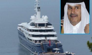 Στα Χανιά το πλωτό παλάτι του Σεΐχη του Κατάρ