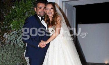 Οι πρώτες εικόνες από τον γάμο της Ελένης Τσολάκη