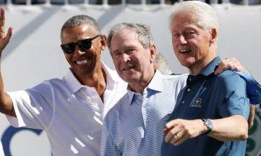 Τρεις πλανητάρχες μαζί: Πού εμφανίστηκαν Ομπάμα, Μπους και Κλίντον