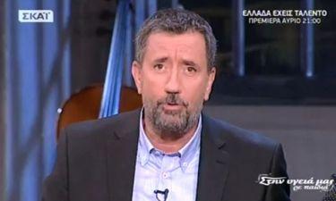 Σπύρος Παπαδόπουλος: Τα συγκινητικά λόγια στην πρεμιέρα του «Στην υγειά μας ρε παιδιά» στον ΣΚΑΪ