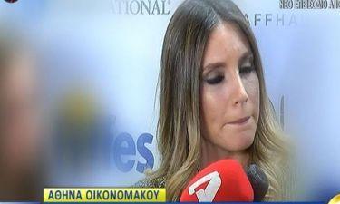Αθηνά Οικονομάκου: Η ερώτηση που εκνεύρισε την εγκυμονούσα!