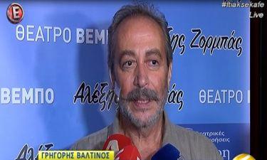 Η εξομολόγηση του Γρηγόρη Βαλτινού μετά το χειρουργείο: «Έβγαλα μισό κιλό πέτρες»