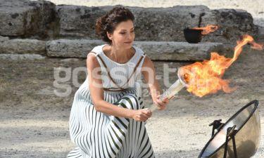 Πρόβες για την τελετή αφής της Ολυμπιακής Φλόγας στην Αρχαία Ολυμπία