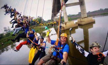 Πτώση για... ρεκόρ στη Βραζιλία: 245 άνθρωποι έπεσαν ταυτόχρονα από γέφυρα (pics & vid)