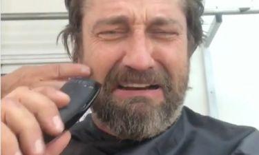 Τζέραρντ Μπάτλερ: Ξυρίζεται για πρώτη φορά μέσα σε ένα χρόνο και νιώθει κατάθλιψη (vid)