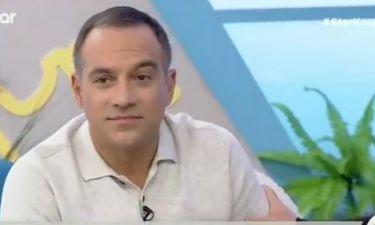 Απολαυστικό βίντεο! Ο Κρατερός μαθαίνει on air ότι ένα αγοράκι φίλησε την κόρη του στο μάγουλο