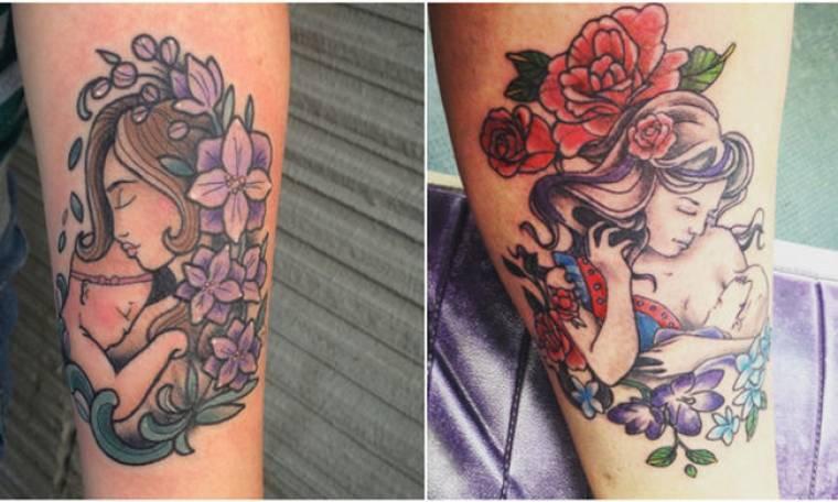 Μοναδικά τατουάζ για το μητρικό θηλασμό