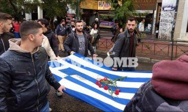 LIVE: Η πορεία για την 44η επέτειο από την εξέγερση του Πολυτεχνείου