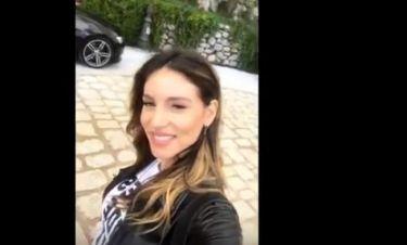 Αθηνά Οικονομάκου: Η πρώτη της βόλτα ως... παντρεμένη