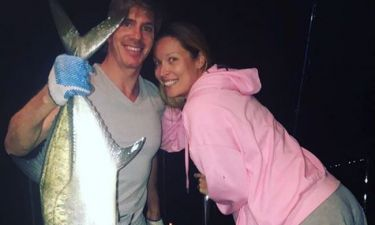 Η εγκυμονούσα Μαριέττα Χρουσαλά για ψάρεμα με τον σύζυγό της στις Μπαχάμες