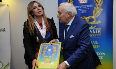 Τιμητική Διάκριση- Βράβευση της Μίνας Παπαθεοδώρου Βαλυράκη στο 35ο Διεθνές Φεστιβάλ FICTS Μιλάνου