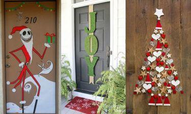 Τριάντα υπέροχες ιδέες για να διακοσμήσετε την πόρτα του σπιτιού σας (pics)