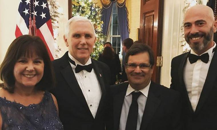 Βαλάντης: Στο χριστουγεννιάτικο πάρτι του Λευκού Οίκου