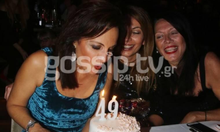 Η Ευαγγελία Δομάζου γιόρτασε τα γενέθλιά της