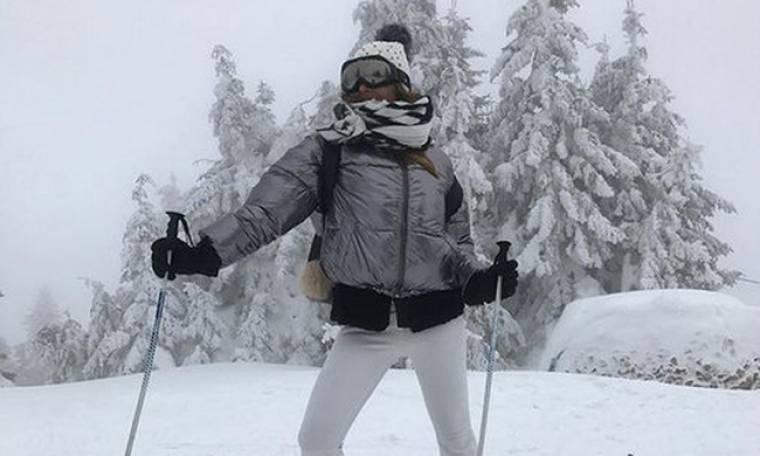 Ελένη Πετρουλάκη: Για σκι τα Χριστούγεννα