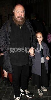 Τζίμης Πανούσης: Η τελευταία δημόσια έξοδος ήταν με την κόρη του
