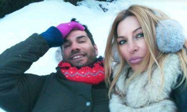 Έλσα Τόλη: Στα χιόνια με τον άντρα της ζωής της
