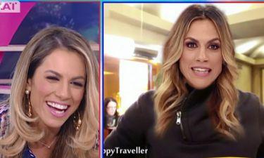 Η Ντορέττα αυτοτρολάρεται! «Προλαβαίνω να παρουσιάσω το Happy Traveller;»