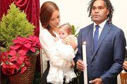 Κριστιάν Καραμπέ: Φωτογραφίες από τη βάπτιση της κόρης του. Το όνομα αυτής…Γαία
