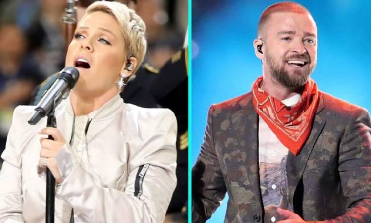 Timberlake και Pink προκάλεσαν θύελλα αντιδράσεων