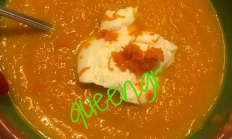 H yummy πανεύκολη σούπα μου από καρότο !!!
