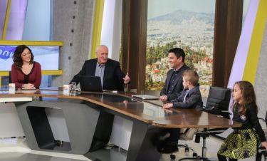 "Sunday Live: Η μικρή ""Ζέτα"" και ο μικρός ""Νίκος"" ανακρίνουν τον Γιώργο Παπαδάκη"