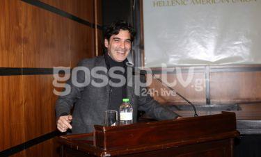 Χριστόφορος Παπακαλιάτης: Η ομιλία του στην Ελληνοαμερικάνικη Ένωση