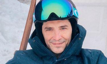Σάκης Ρουβάς: H oικογενειακή απόδραση στα χιόνια