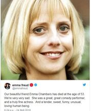 Emma Chambers:  Άφησε την τελευταία της πνοή στα 53 της χρόνια η γνωστή ηθοποιός