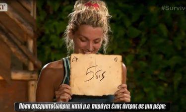 Survivor:«Κάγκελο» ο Τανιμανίδης με την Σπυροπούλου-Πόσα σπερματοζωάρια παράγει ένας άντρας τη μέρα;