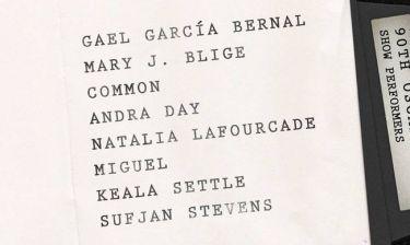 Όσκαρ 2018: ποιοι θα τραγουδήσουν στη μεγάλη βραδιά της Κυριακής