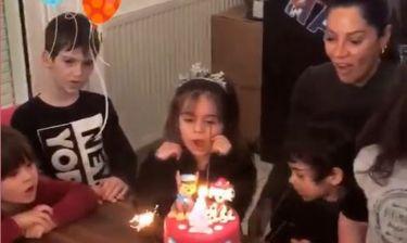 Μαριάντα Πιερίδη: Δείτε βίντεο από τα 4α γενέθλια του γιου της