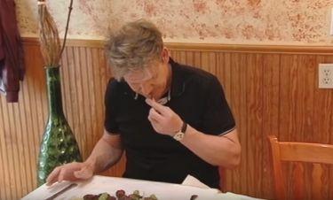 Η επική αντίδραση του Ramsey όταν δοκιμάζει ένα Ελληνικό πιάτο!