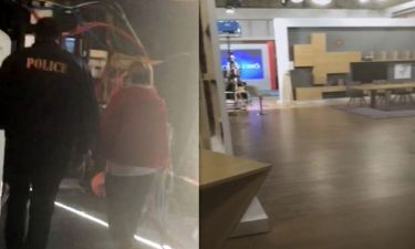 Καρέ καρέ η άφιξη της αστυνομίας στα πλατό του Epsilon tv και ο έλεγχος για βόμβα