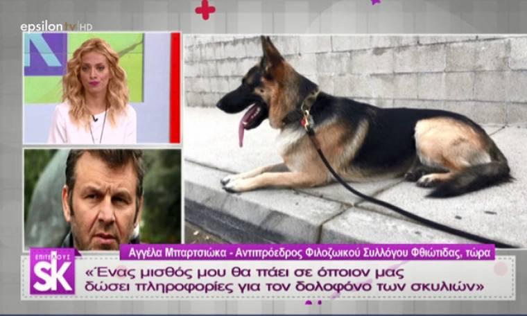 Ο Γκλέτσος θα δώσει το μισθό του για να βρεθούν οι δολοφόνοι σκύλων στη Στυλίδα!