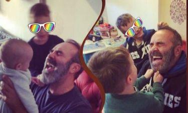 Γρηγόρης Γκουντάρας: Ίδια λήψη με τα παιδιά του με τρία χρόνια διαφορά