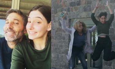 Σμαράγδα Καρύδη - Θοδωρής Αθερίδης: Πάσχα με την κόρη του ηθοποιού στην Αίγινα