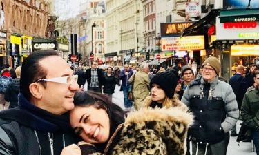 Λευτέρης Πανταζής: Με την κόρη του στο Λονδίνο