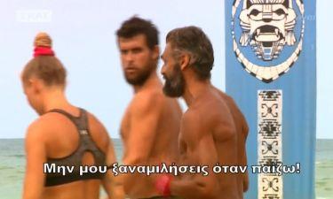 Survivor 2: Έξαλλος ο Κρητικός με τον Σώζοντα: «Μην μου ξαναμιλήσεις όταν παίζω»