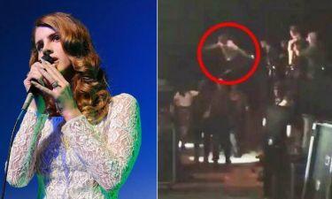 Lana Del Ray: Άνδρας έπεσε πάνω της μετά τη συναυλία της- Ανησυχία για την υγεία της