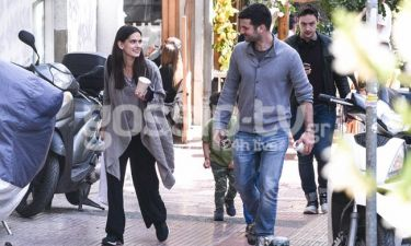 Γεωργιάννα Νταλάρα: Οικογενειακή βόλτα στο κέντρο της Αθήνας