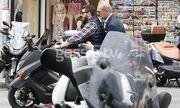 Πέτρος Κωστόπουλος: Στη μηχανή με κοστούμι