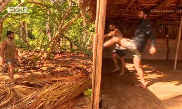 Survivor 2: Καταστρέψανε την καλύβα τους οι Μαχητές