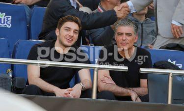 Νίκος Ευαγγελάτος: Στο γήπεδο με τον γιο του, Νικόλα