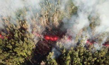 Δονήσεις, λάβα και τοξικά αέρια: Το Κιλαουέα «ξύπνησε» και προκαλεί δέος