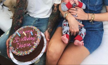 Γιόρτασε τα γενέθλιά της με τον 1,5 μηνών γιο της